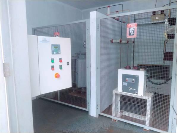 Quadro de proteção e comando para cabines primaria